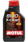 """MOTUL Масло моторное синтетическое """"8100 X-clean 5W-40"""", 1L"""