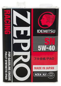 IDEMITSU Zepro Racing 5W-40 SN Fully Synthetic